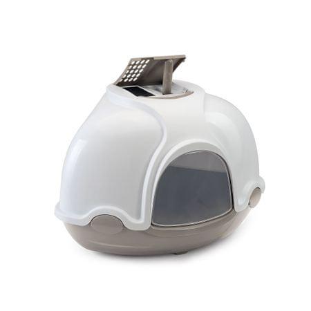 Argi mačje stranišče s filtrom, sivo