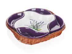Banquet Mísa v košíku LAVENDER 28 cm, 5 dílů - použité