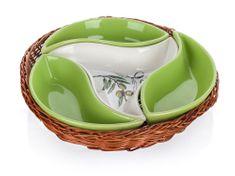 Banquet Misa v košíku Olives 23 cm, 4 diely