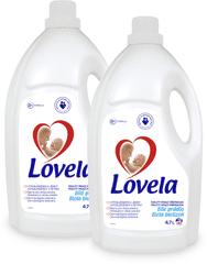 Lovela gel za pranje bijelog rublja, 2 x 4,7 l