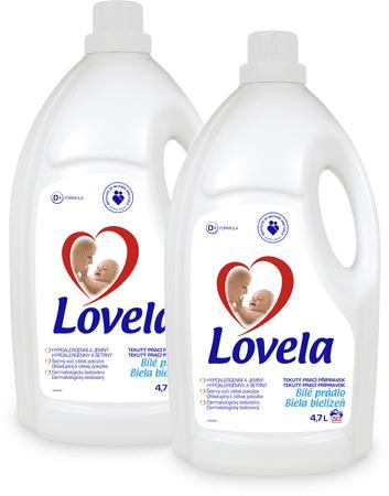 Lovela gel za pranje belih oblačil, 2 x 4,7 l