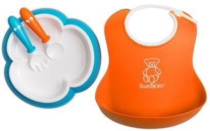 Babybjörn Jídelní set, Orange/Tyrkys