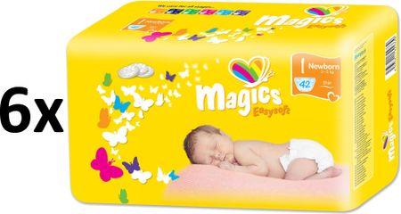 Magics Easysoft 1 Newborn Megapack (2-5 kg) 252 szt. (6x42 szt.)
