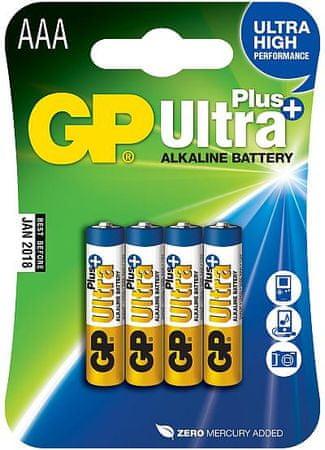 GP baterie alkaiczne Ultra Plus (AAA), 4 sztuki