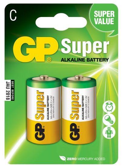 GP Alkalické batérie GP Super (C), 2 ks