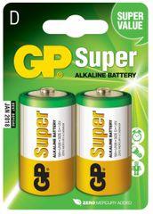 GP Alkalické batérie GP Super (D), 2 ks