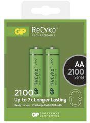 GP polnilna baterija ReCyko+ 2100 HR6 (AA), 2 kosa