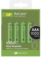 GP baterija ReCyko+ 1000 HR03 (AAA), 4 kosa