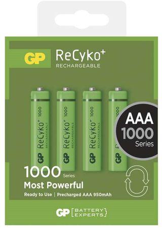 GP GP ReCyko+ 1000 (AAA) tölthető elem, 4 db