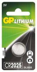 GP Lítium gombelem GP CR2025