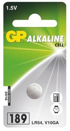GP alkalna gumbna baterija LR54 (189), 1 blister