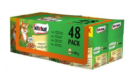 Kitekat sucha karma dla kota Wiejskie menu 48x100g