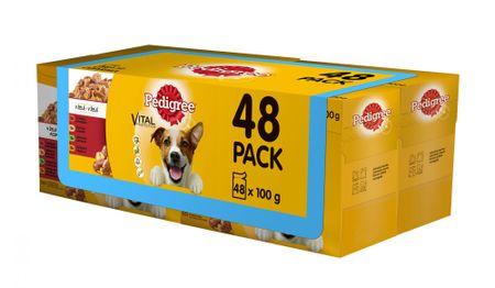 Pedigree Adult Alutasakos kutyaeledel 4 x (12 x 100g)
