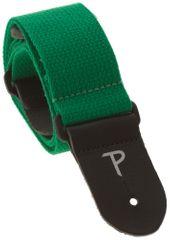 Perris Leathers 1689 Basic Cotton Bright Green Gitarový popruh