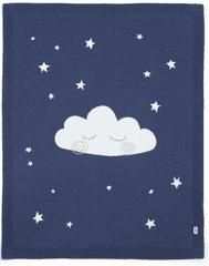 Mamas&Papas Dzianinowy kocyk Nocne niebo, niebieski