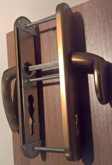 Hoppe varnostna garnitura Atlanta 86G/3331/3310/1530, ES1, F4, gumb/kljuka, 92/8 mm 62-72 mm
