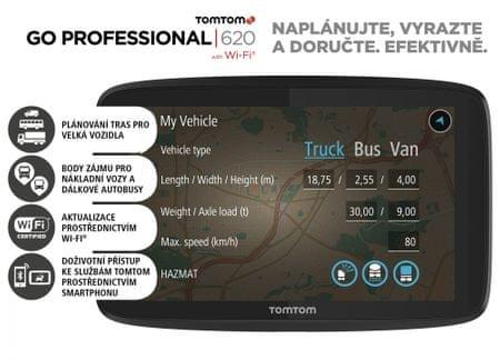 TomTom GO PROFESSIONAL 620 EU Lifetime - zánovní