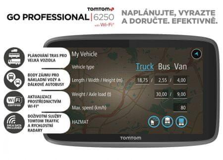 TomTom nawigacja GO PROFESSIONAL 6250 - LIFETIME
