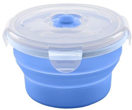 Nuvita Összerakható szilikon tál 230 ml, Blue