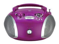 Grundig radio s CD-predvajalnikom RCD1445, USB, roza/srebrn