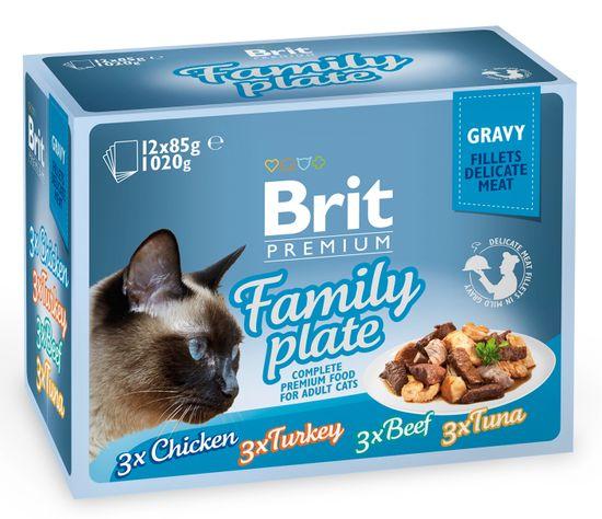 Brit Premium Cat Delicate Fillets in Gravy Family Plate 12 x 85g