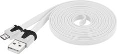 PremiumCord Micro-USB kabel (2.0; 2m), bílá
