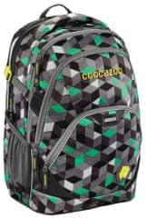 CoocaZoo EvverClevver2 Iskolatáska, Crazy Cubes Green