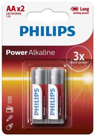 Philips baterije Power Alkaline Blister AA 2 komada