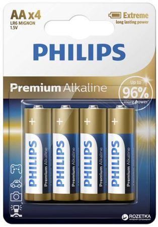 Philips baterije Premium Alkaline Blister AA, 4 kosi (LR6)