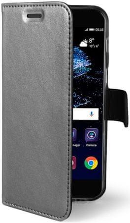 CELLY Flip-kryt Air (Huawei P10 Lite), strieborný