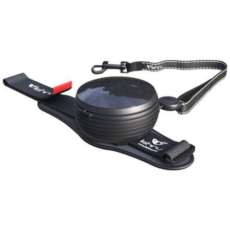 Lishinu Smycz Original dla psów do 30 kg, czarna