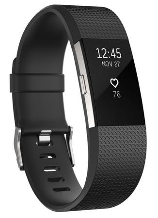 Fitbit aktivna zapestnica Charge 2, Black/Silver, S