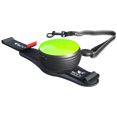 Lishinu Smycz Light Lock dla psów i kotów do 8 kg, zielona