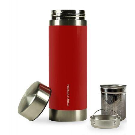 Yoko Design Termosz teaszűrővel 350 ml, piros