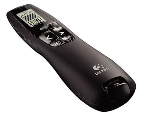 Logitech USB kazalnik R700 professional z rdečim laserjem, črn