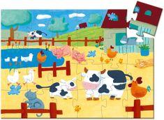 Djeco Kravička na farmě puzzle