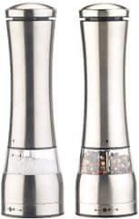Ceramic Blade Elektrický mlynček na soľ a korenie, nerez oceľ, 2 ks