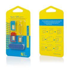 Set adaptera 5u1 - Nano SIM, micro SIM, SIM + otvarač i strugalica