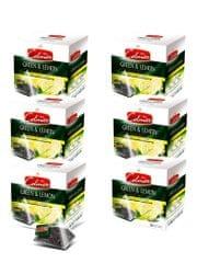 Celmar herbata Green&Lemon, 20 piramidek, 6 opakowań