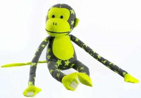 Teddies Sötétben világító majmocska - szürke/sárga