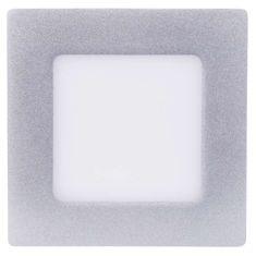 EMOS kwadratowa lampa LED, 6W, biały neutralny, srebrna