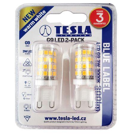 Tesla LED žiarovka, G9, 3W