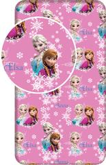 Jerry Fabrics bawełniane prześcieradło Frozen Duo Sisters, 90x200+25 cm