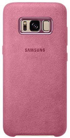 SAMSUNG Kryt Alcantara (Samsung Galaxy S8), ružová