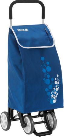 Gimi nakupovalna torba na kolesih Twin, 56 l, modra