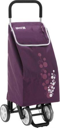 Gimi Twin kerekes bevásárlótáska 56 l, lila