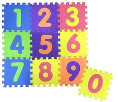 COSING Penová podložka Puzzle - Čísla 10 ks