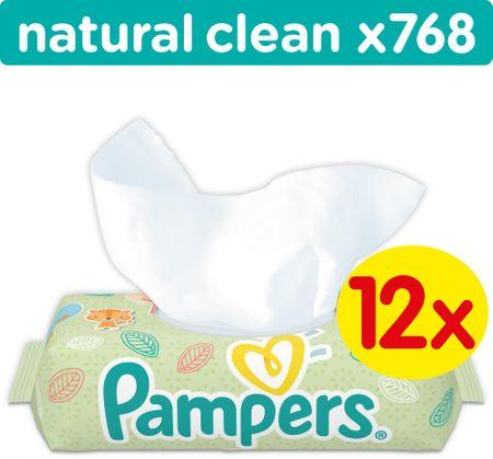 Pampers chusteczki Natural Clean 12x64 szt