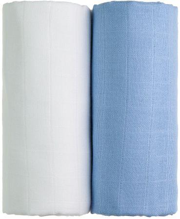 T-tomi TETRA Fürdőlepedő EXCLUSIVE COLLECTION 2db, fehér + kék