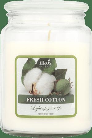 Ilkos Vonná svíčka Fresh Cotton, velká